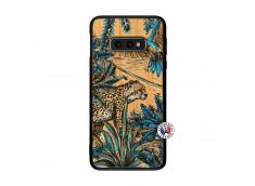 Coque Samsung Galaxy S10e Leopard Jungle Bois Bamboo