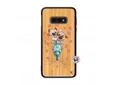 Coque Samsung Galaxy S10e Puppies Love Bois Bamboo