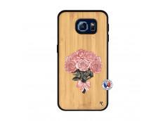 Coque Samsung Galaxy S6 Bouquet de Roses Bois Bamboo