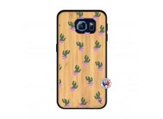 Coque Samsung Galaxy S6 Cactus Pattern Bois Bamboo
