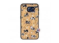 Coque Samsung Galaxy S6 Cow Pattern Bois Bamboo