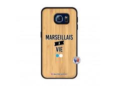 Coque Samsung Galaxy S6 Marseillais à Vie Bois Bamboo
