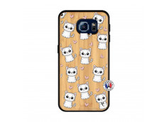 Coque Samsung Galaxy S6 Petits Chats Bois Bamboo