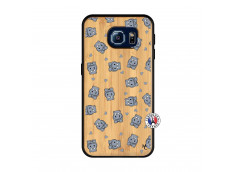 Coque Samsung Galaxy S6 Petits Hippos Bois Bamboo