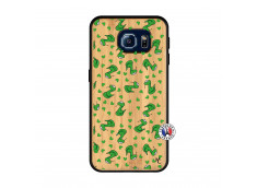 Coque Samsung Galaxy S6 Petits Serpents Bois Bamboo