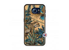 Coque Samsung Galaxy S6 Leopard Jungle Bois Bamboo