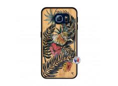 Coque Samsung Galaxy S6 Leopard Tree Bois Bamboo