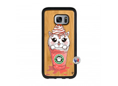Coque Bois Samsung Galaxy S7 Edge Catpucino Ice Cream