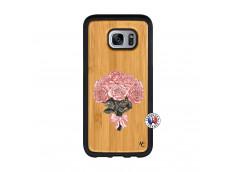 Coque Samsung Galaxy S7 Edge Bouquet de Roses Bois Bamboo