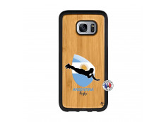 Coque Samsung Galaxy S7 Edge Coupe du Monde Rugby-Argentine Bois Bamboo