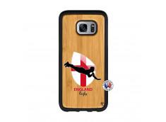 Coque Samsung Galaxy S7 Edge Coupe du Monde Rugby-England Bois Bamboo
