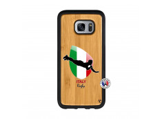 Coque Samsung Galaxy S7 Edge Coupe du Monde Rugby-Italy Bois Bamboo