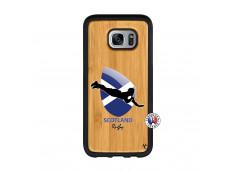 Coque Samsung Galaxy S7 Edge Coupe du Monde Rugby-Scotland Bois Bamboo