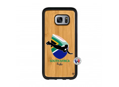 Coque Samsung Galaxy S7 Edge Coupe du Monde Rugby-South Africa Bois Bamboo