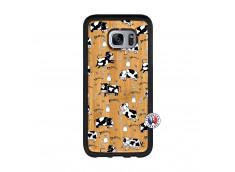 Coque Samsung Galaxy S7 Edge Cow Pattern Bois Bamboo