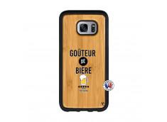 Coque Samsung Galaxy S7 Edge Gouteur De Biere Bois Bamboo
