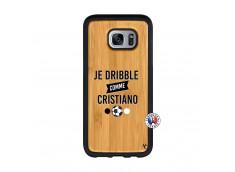 Coque Samsung Galaxy S7 Edge Je Dribble Comme Cristiano Bois Bamboo