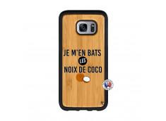 Coque Samsung Galaxy S7 Edge Je m'en bats Les Noix De Coco Bois Bamboo