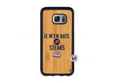 Coque Samsung Galaxy S7 Edge Je M En Bas Les Steaks Bois Bamboo