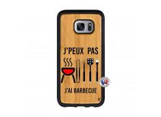 Coque Bois Samsung Galaxy S7 Edge Je Peux Pas J Ai Barbecue