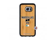 Coque Samsung Galaxy S7 Edge Marseillais à Vie Bois Bamboo