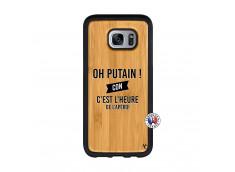 Coque Samsung Galaxy S7 Edge Oh Putain C Est L Heure De L Apero Bois Bamboo