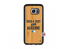 Coque Samsung Galaxy S7 Edge Rien A Foot Allez Auxerre Bois Bamboo