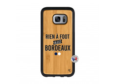 Coque Samsung Galaxy S7 Edge Rien A Foot Allez Bordeaux Bois Bamboo