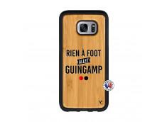 Coque Samsung Galaxy S7 Edge Rien A Foot Allez Guingamp Bois Bamboo