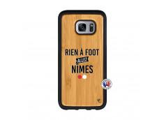 Coque Samsung Galaxy S7 Edge Rien A Foot Allez Nimes Bois Bamboo