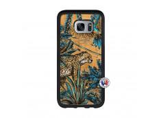 Coque Samsung Galaxy S7 Edge Leopard Jungle Bois Bamboo