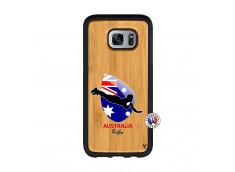 Coque Samsung Galaxy S7 Coupe du Monde Rugby-Australia Bois Bamboo
