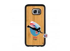 Coque Samsung Galaxy S7 Coupe du Monde Rugby Fidji Bois Bamboo