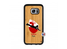 Coque Samsung Galaxy S7 Coupe du Monde Rugby-Tonga Bois Bamboo