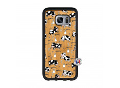 Coque Samsung Galaxy S7 Cow Pattern Bois Bamboo