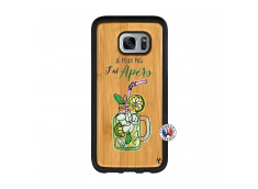 Coque Samsung Galaxy S7 Je peux pas J'ai Apéro Bois Bamboo