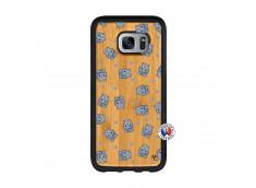 Coque Samsung Galaxy S7 Petits Hippos Bois Bamboo