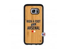 Coque Samsung Galaxy S7 Rien A Foot Allez Arsenal Bois Bamboo