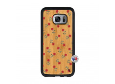Coque Samsung Galaxy S7 Rose Pattern Bois Bamboo