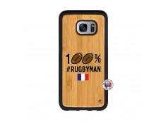 Coque Samsung Galaxy S7 100% Rugbyman Bois Bamboo