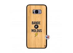 Coque Samsung Galaxy S8 Plus Bandes De Moldus Bois Bamboo