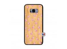 Coque Bois Samsung Galaxy S8 Plus Flamingo