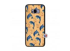Coque Bois Samsung Galaxy S8 Plus Dauphins