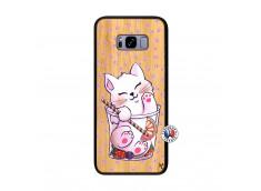 Coque Bois Samsung Galaxy S8 Plus Smoothie Cat