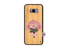 Coque Samsung Galaxy S8 Plus Bouquet de Roses Bois Bamboo