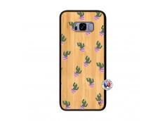 Coque Samsung Galaxy S8 Plus Cactus Pattern Bois Bamboo