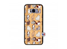 Coque Samsung Galaxy S8 Plus Cat Pattern Bois Bamboo