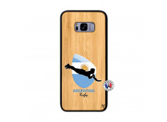 Coque Samsung Galaxy S8 Plus Coupe du Monde Rugby-Argentine Bois Bamboo