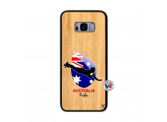 Coque Samsung Galaxy S8 Plus Coupe du Monde Rugby-Australia Bois Bamboo
