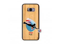 Coque Samsung Galaxy S8 Plus Coupe du Monde Rugby Fidji Bois Bamboo